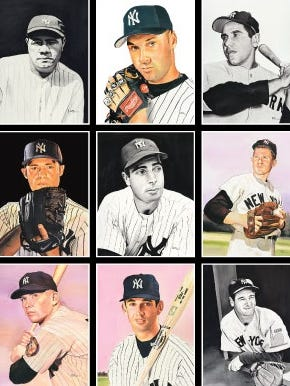 A collection of Yankees' legends portraits painted by a Flemington artist will be displayed at the Yogi Berra Museum..
