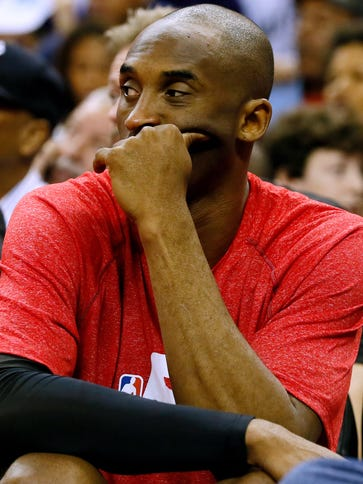 Los Angeles Lakers guard Kobe Bryant will be out for