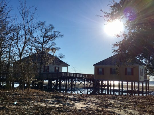 Cabins on Lake Ponchartrain are available for overnight stays at Fontainebleau State Park in Mandeville.