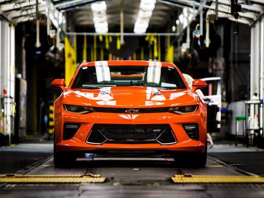 Full size Hot Wheels Camaros, made at Lansing GM plant
