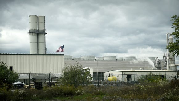 The Ironwood natural-gas-fired power plant in South Lebanon Township, pictured on Oct. 14, 2015.