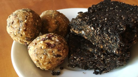 Cori Strathmeyer makes batches of chocolate almond