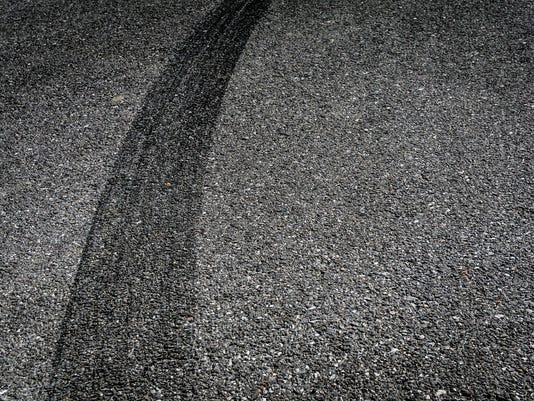 Tire Break on Asphalt