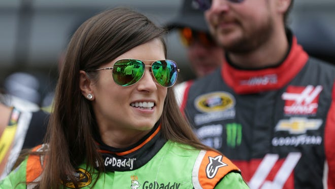 Danica Patrick, prior to the start of the Crown Royal 400 at the Brickyard, July 26, 2015.
