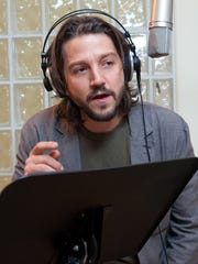 "Diego Luna recording a scene from ""The Book of Life."""