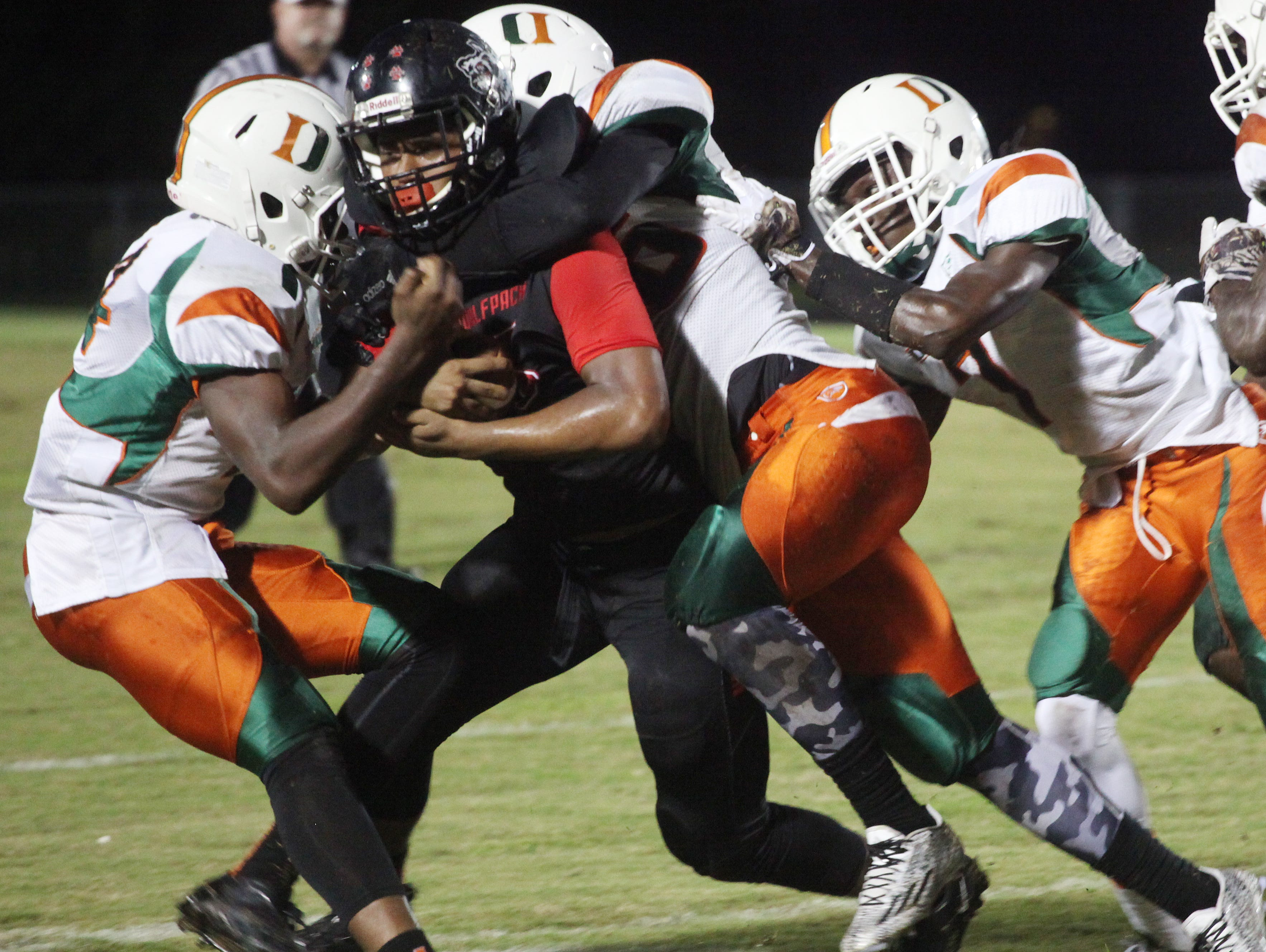 Junior Fa'Najae Goyay, a South Fort Myers High transfer, will fill the linebacker role left vacant by the graduated Mi'Cario Stanley at North Fort Myers High this upcoming season.