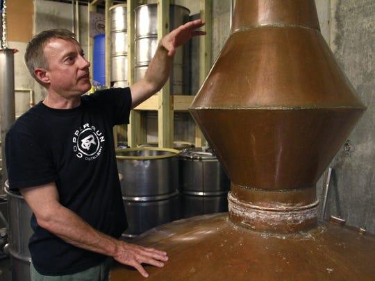 Jim Blansit, owner of Copper Run Distillery in Walnut