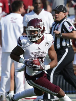 Mississippi State senior Fred Ross set the school record for receiving yards in a career Saturday against Alabama.