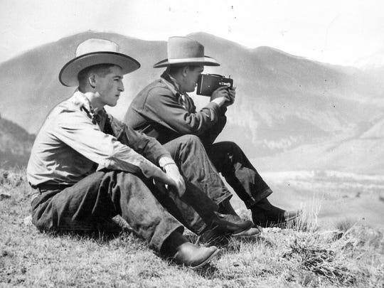 Recovering from a nervous breakdown, Mickey Cochrane films the Wyoming landscape beside his friend Emmett (Rosie) O'Donnell, a future four-star general.