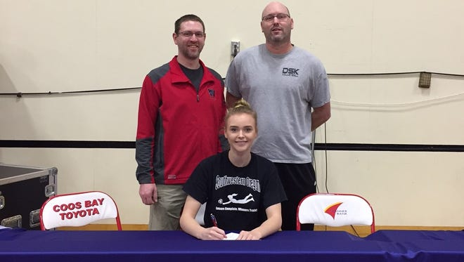 North Salem senior Laura Gross has signed a letter of intent to play volleyball at SWOCC.