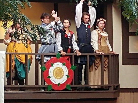 Abby Armstrong, far right, portrays character Buntie