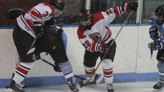 Suffern defeated Rye 3-2 in a Section 1 hockey game