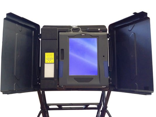 Voting machine isolated on white