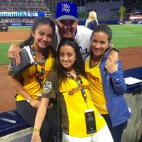 Pedro Grifol with daughters, left to right, Camila (13) and Lauren (21) and wife Ali.