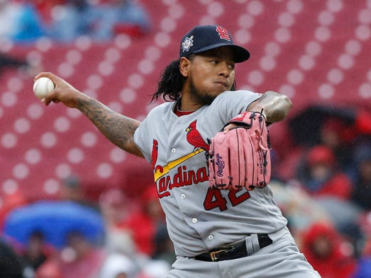 April 15: Carlos Martinez, Cardinals, 11 at Reds