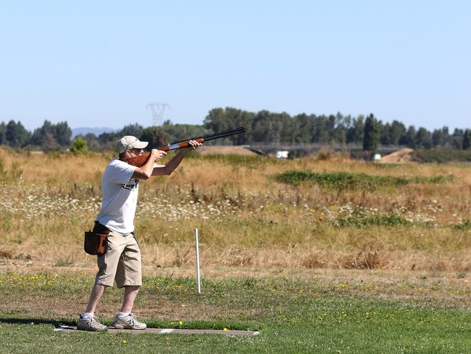 Tom Daly skeet shoots on Friday, Aug. 7, 2015, at Mid-Valley