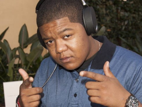 Actor Kyle Massey tries on headphones at Bellafortuna Luxury Gift Suite Presented By Feri-Insideon on Sept. 17 in Beverly Hills, California.