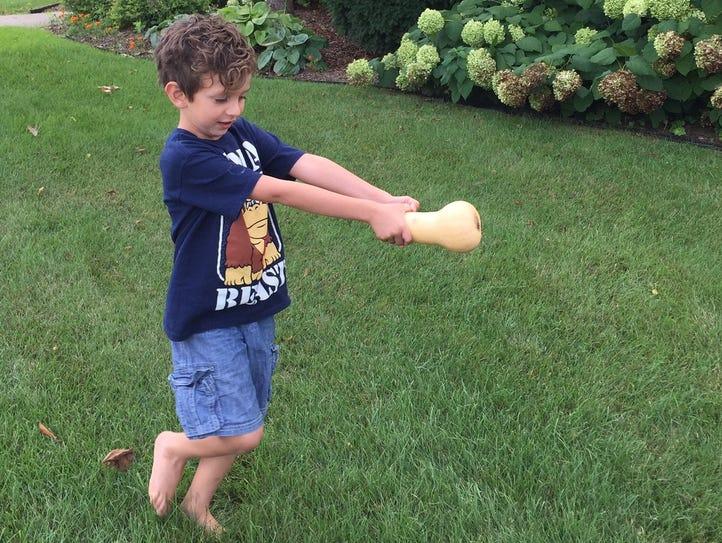 Nolan Sabo, 7, son of Huron Valley Council for the