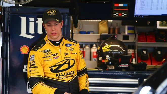 NASCAR Sprint Cup Series driver Brad Keselowski during qualifying for the Good Sam 500 at Phoenix International Raceway.