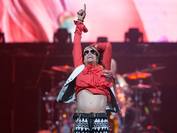 Aerosmith vocalist Steven Tyler performs at Gila River