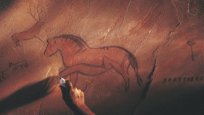 Our alphabet is part of the conversation that perhaps started as cave paintings