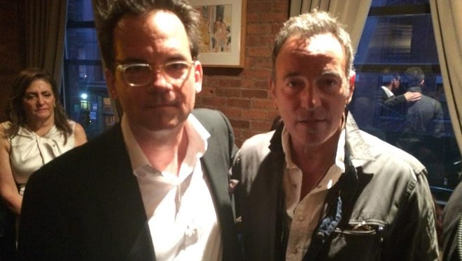 Thom Zimny and Bruce Springsteen at the  Kristen Ann Carr Fund benefit, held Saturday, May 16 at the Tribeca Grill Loft in New York City.