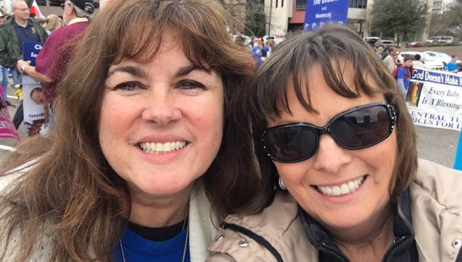 Sharla Ynostrosa and her friend Dana attended Rally for Life events in Austin on Saturday, Jan. 27, 2018.