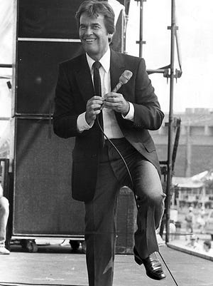 """Dick Clark, the 51-year-old who looks and sounds like a teenager, warmed up the crowd at MusicFest with some stories from the 1950's and by dancing a jig on 7 June 1981. He then gave way to Freddie Cannon, The Shirelles and The Coasters who kept things rocking.  Jerry Lee Lewis was the headliner for the final day, which drew a crowd of 30,000.  The """"Good Ol' Rock 'n' Roll Show"""" was the featured event as the Cotton Carnival festival completed its run at the Mid-South Fairgrounds.  Total attendance for the 10 days was 192,000."""