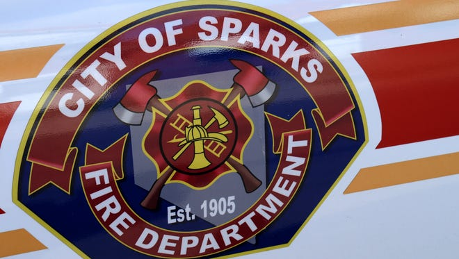 A file photo of the Sparks Fire Department logo.