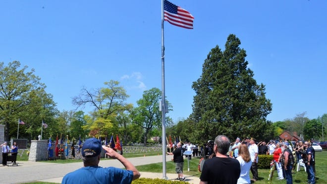 Veterans, their families and members of the public gathered at the St. Clair County Allied Veterans Cemetery on May 27, 2018, for a commemoration ceremony ahead of Memorial Day.