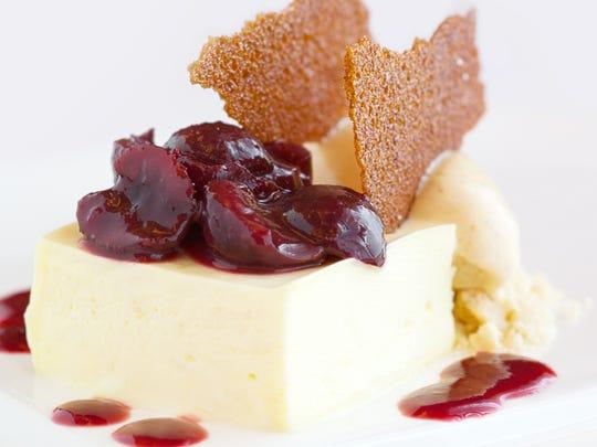 Cherry Cheesecake at Restaurant Nicholas