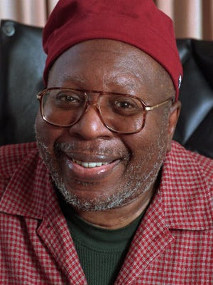 Curtis Mayfield is shown in this file photo, Sept. 18, 1996. The composer and songwriter, whose string of 1960s hits ``People Get Ready,'' ``Talking About My Baby,'' ``Keep On Pushing,'' place him among America's music legends, has died. Mayfield was 57.
