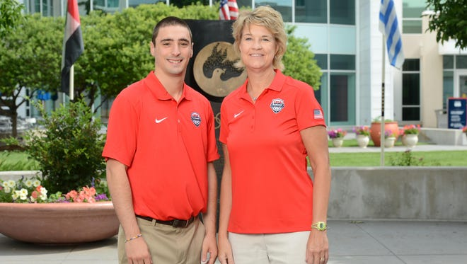 Lisa Bluder, right, will be leading the U.S. women's basketball team at the Pan American Games