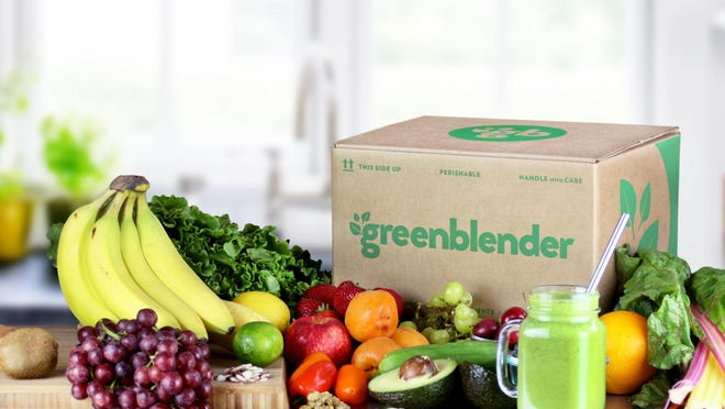 Greenblender sends you all the fresh ingredients for making five 2-serving smoothies.