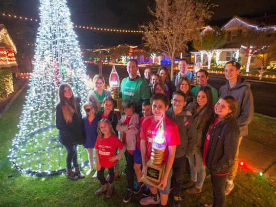 "A neighborhood on Comstock Dr. in Gilbert won ABC's ""The Great Christmas Light Fight"" Dec. 14, 2015."