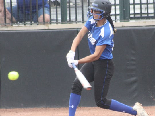 Ladywood's Alexa Flores opened Thursday's game with