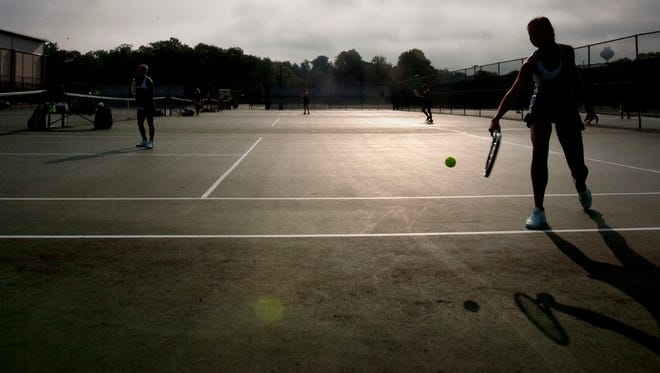 The proposed alteration/illumination plan for Brookfield East tennis courts and softball fields was approved by the Common Council on Jan. 16. This is a picture of a tennis player from 2014.