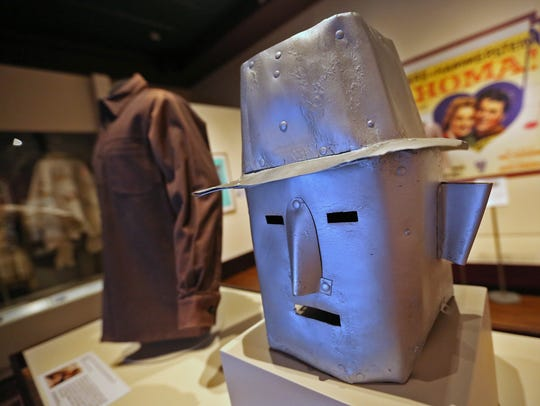 This c. 1933 robot mask, from the 1935 Mascot Pictures