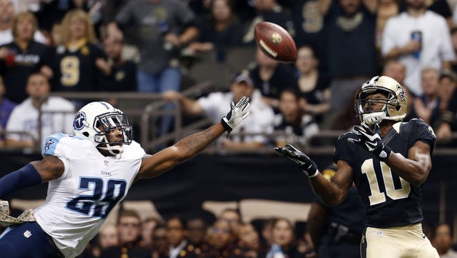 Saints wide receiver Brandin Cooks (10) was the 20th overall pick out of Oregon State in 2014.