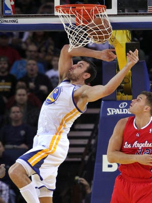 Andrew Bogut had 14 points, 17 rebounds and three blocks for the Warriors.