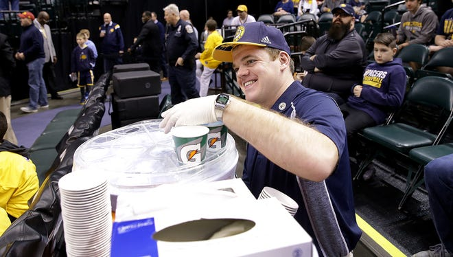 Pacers locker room attendant Matt Hayden has worked for the team for 18 years.