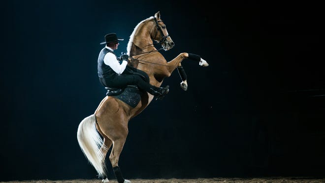 Matt McLaughlin performs during the Midwest Horse Fair in Madison.