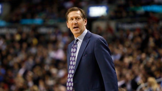Nov 24, 2014: Suns head coach Jeff Hornacek against the Toronto Raptors at the Air Canada Centre. Toronto defeated Phoenix 104-100.