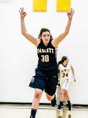 Sydnee Dennis of Haslett has helped the Vikings rattle off five straight wins.