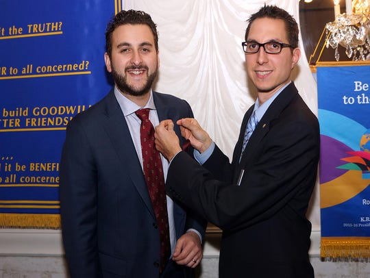 Will Gruccio (left) was sponsored for membership in