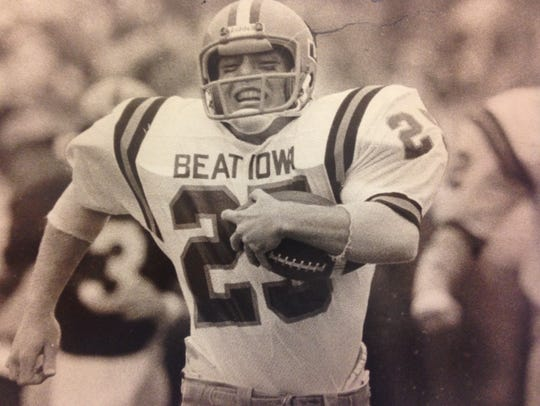 "The Cyclones wore ""Beat Iowa"" shirts for the 1977 Cy-Hawk"