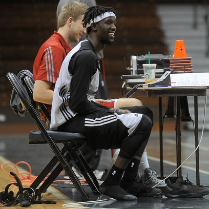 Sioux Falls Skyforce's Briante Weber is shown during