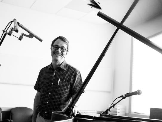 Dick Kowal in the studio at Blue Ridge Public Radio.