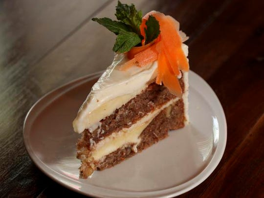 The Carrot Cake Cheesecake served at the Village Anchor in Anchorage.May 7, 2015
