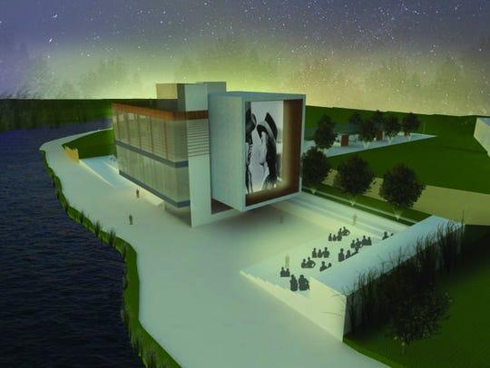 A Riverwalk Art Museum & Community Plaza is one of